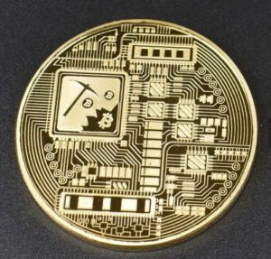 bitcoins back side view