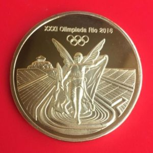 Coins of the Rio medal in Brazil