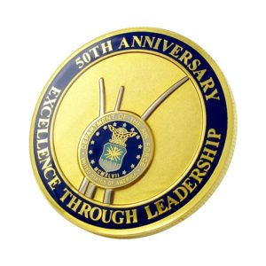 Custom US gold-plated commemorative coins