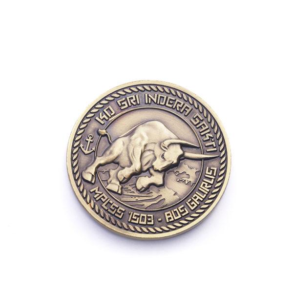 European bullfight Challenge Coin