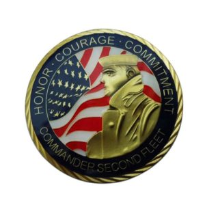 Honor coin of brave soldier