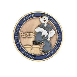 Lovely Popeye challenge coins
