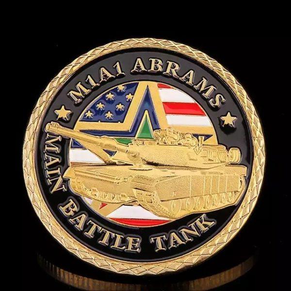 Military battle tank coins