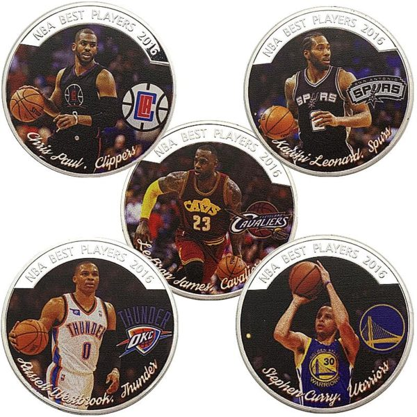 NBA star James Curie Paul coins