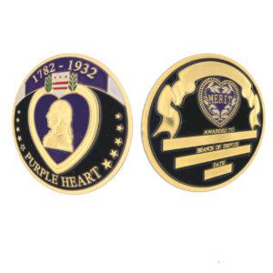 Purple heart coins