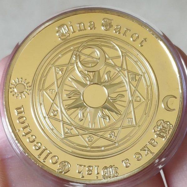Sun Moon geomantic constellation coins