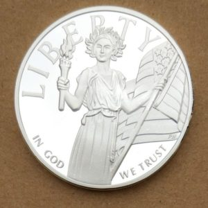 American statue of liberty relief coins