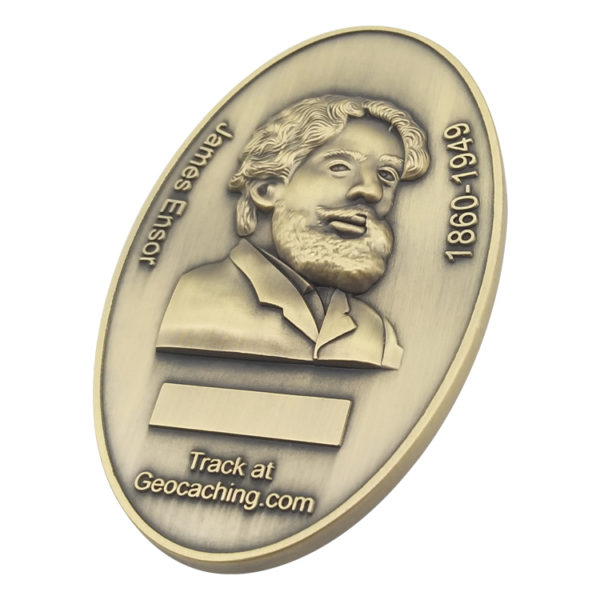 Antique commemorative coin 3D logo coin