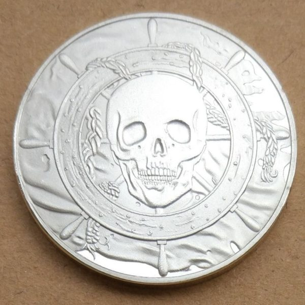 Caribbean Pirate Skull coin