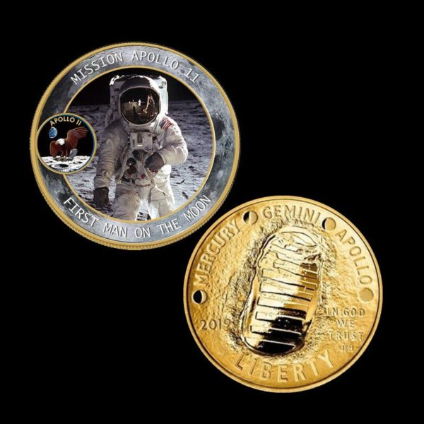 Coins for human landing on the moon
