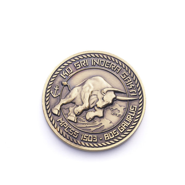 European bullfight Challenge Coin