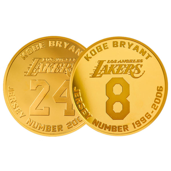 Lakers jersey number coin