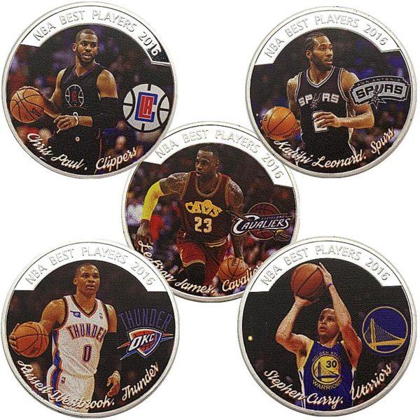NBA star James Curie Paul coins