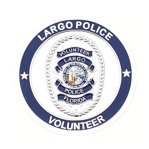 Police volunteer coins