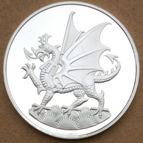 Welsh red dragon commemorative coin